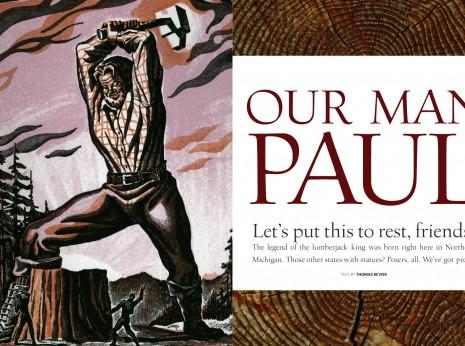 traverse northern michigan magazine historic illustration paul bunyan
