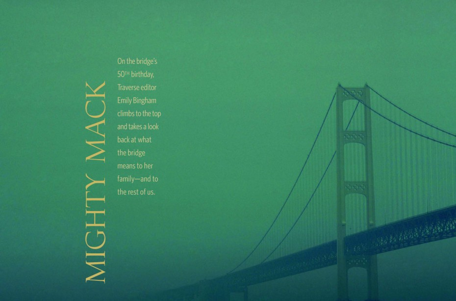 traverse northern michigan magazine historic mackinac bridge construction