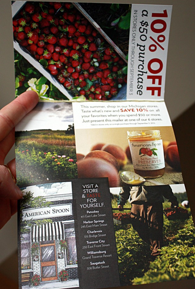american spoon coupon mailer