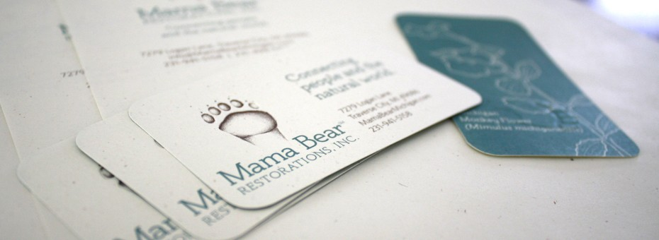 logo designer traverse city northern michigan mama bear restorations