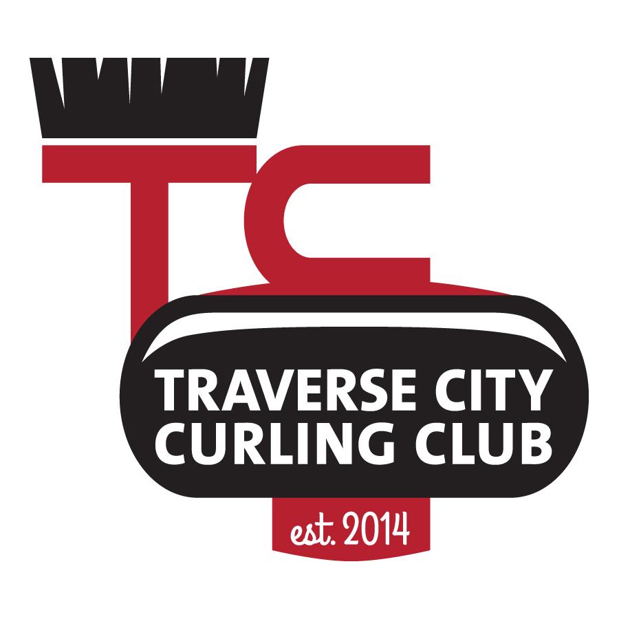 curling club logo traverse city curling club tc